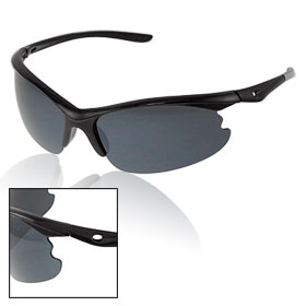 Gray Black Plastic Gradient Lens Sunglasses for Unisex