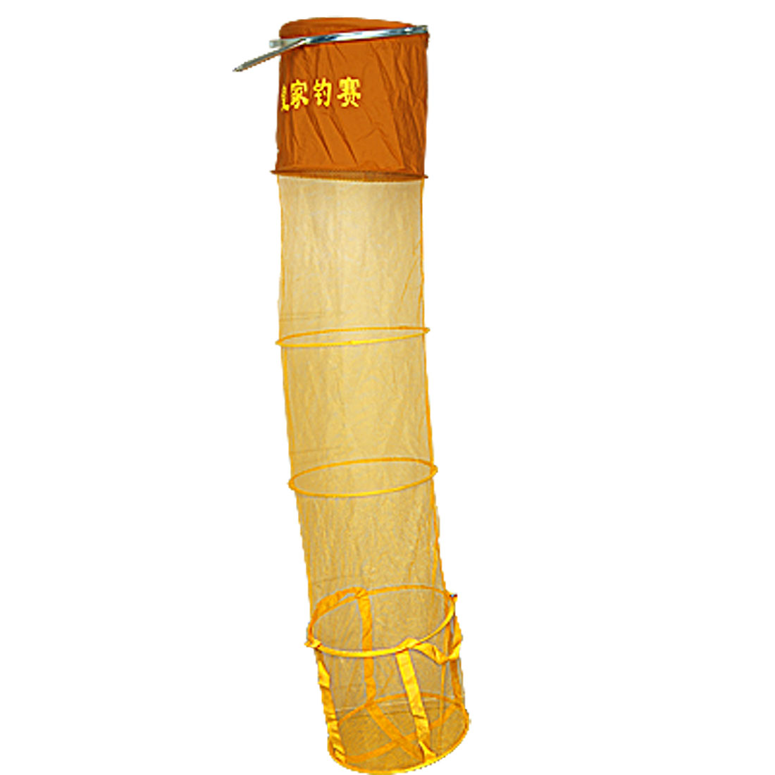 5-Sections 150cm Height Foldable Fishing Nets Yellow