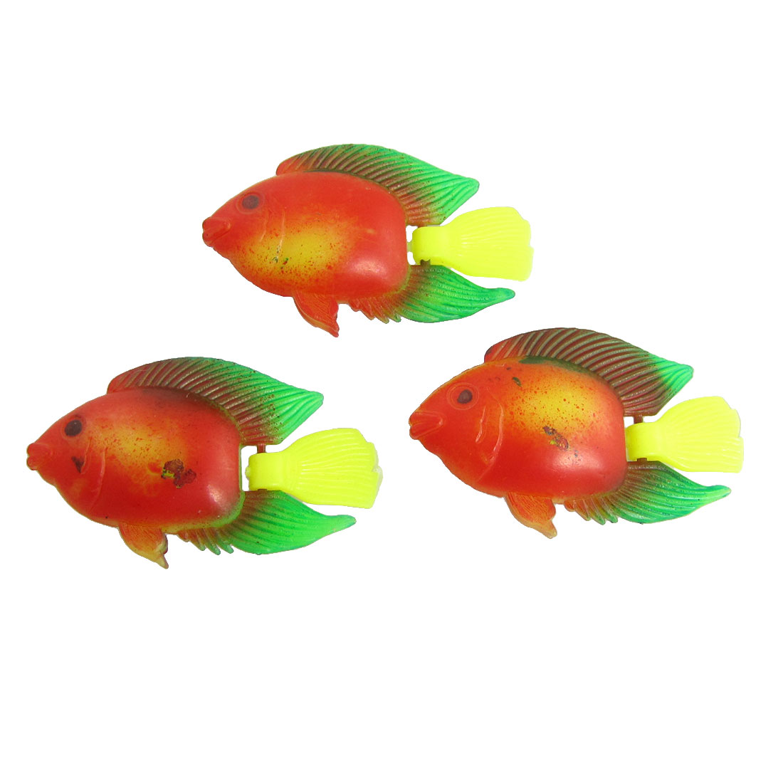 Plastic Tropical Floating Fishes Aquarium Ornament Colorful 3PCS