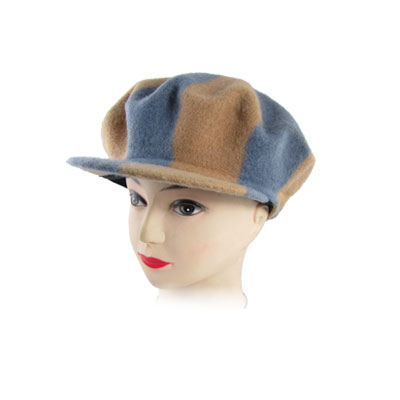 Double Tone Fleeces Warm Visor Beret Cap Hat for Ladies