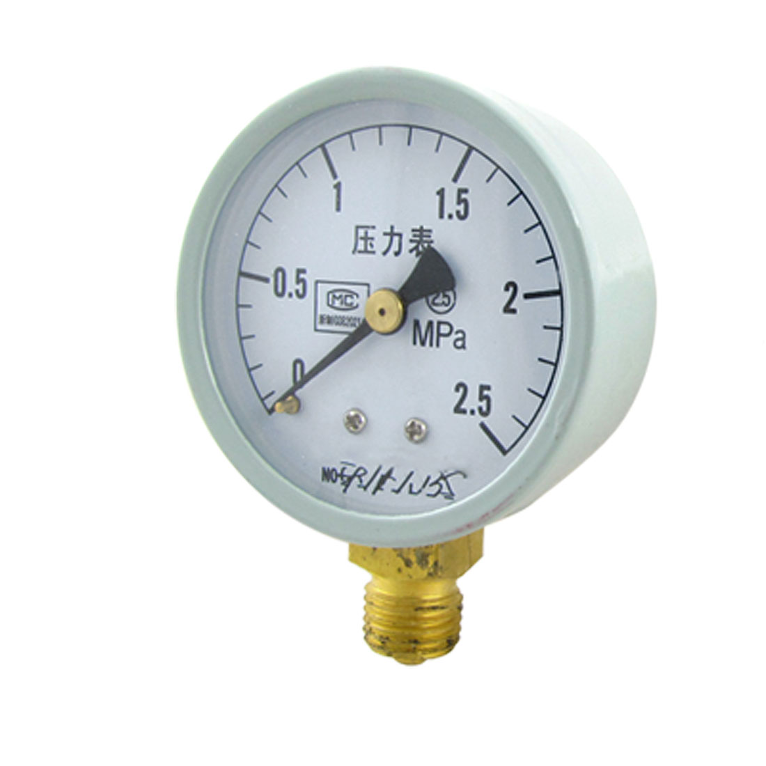 Liquid Water Air Pressure 2.5MPa Round Dial Gauge