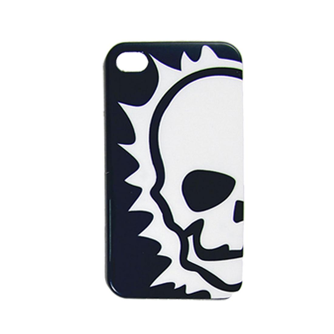 IMD Skull Print Hard Plastic Back Case for iPhone 4 4G