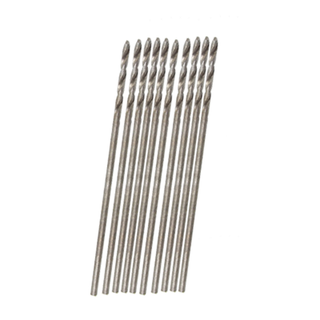 20 Pcs 30mm Long 0.8mm Dia Micro HSS Twist Drill Bit