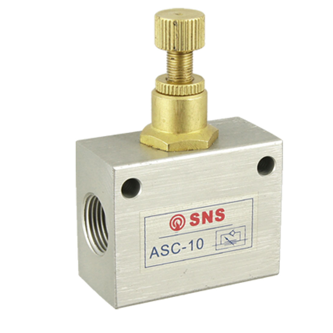 "G3/8"" Pipe Bore One Way Pneumatic Flow Control Valve ASC-10"