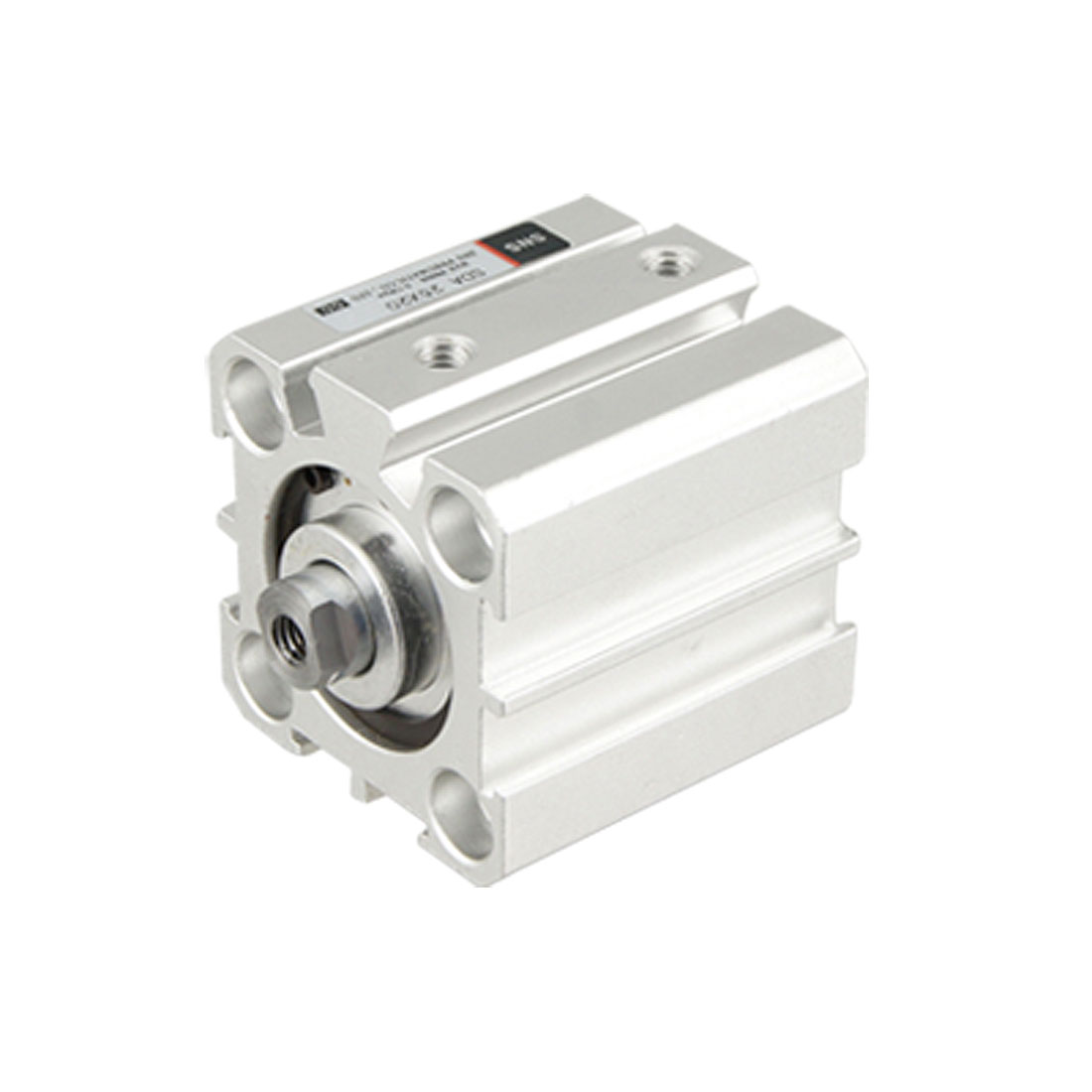 Pneumatic SDA 25 x 20 Thin Type Air Cylinder Silver Tone