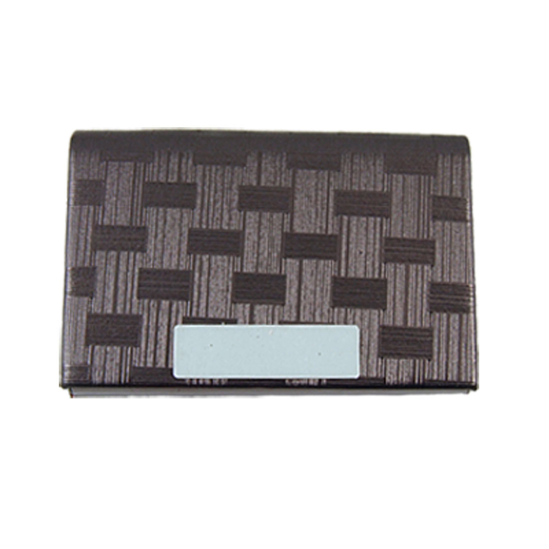 Faux Leather Coated Textured Business Card Case Holder