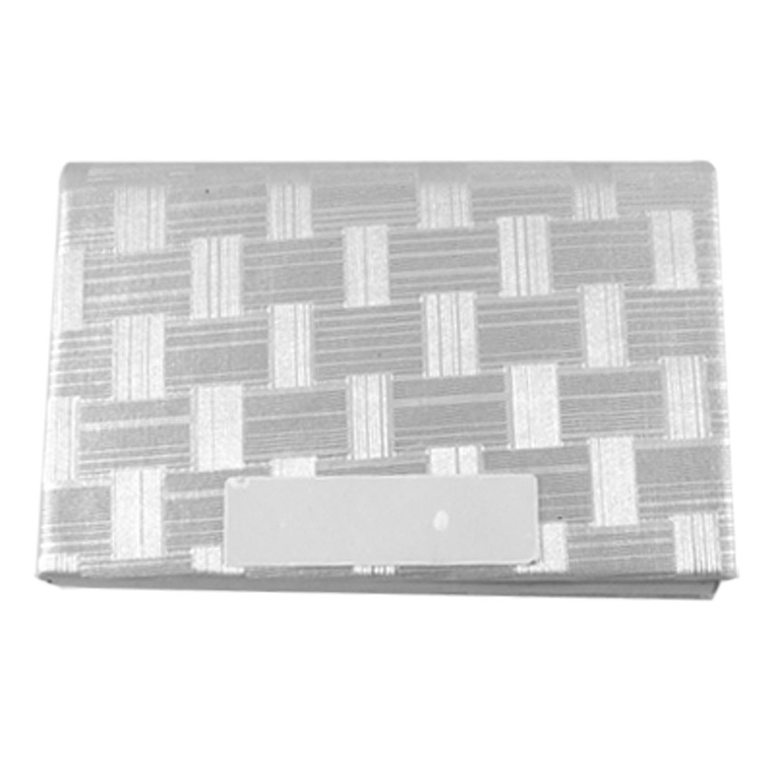 Silver Tone Textured Magnetic Closure Business Card Case