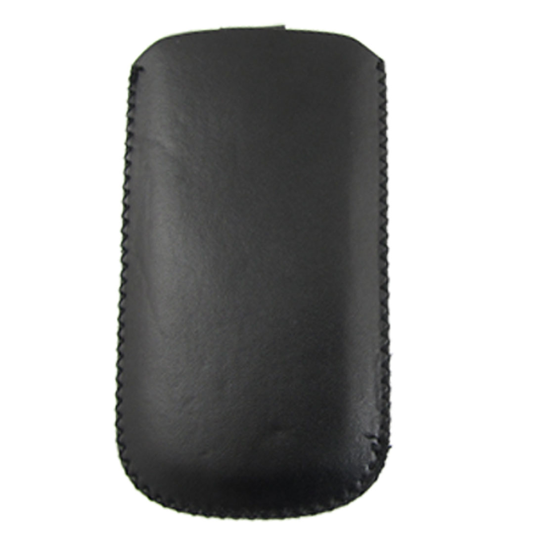 Black Faux Leather Pull Up Pouch Case for HTC HD2