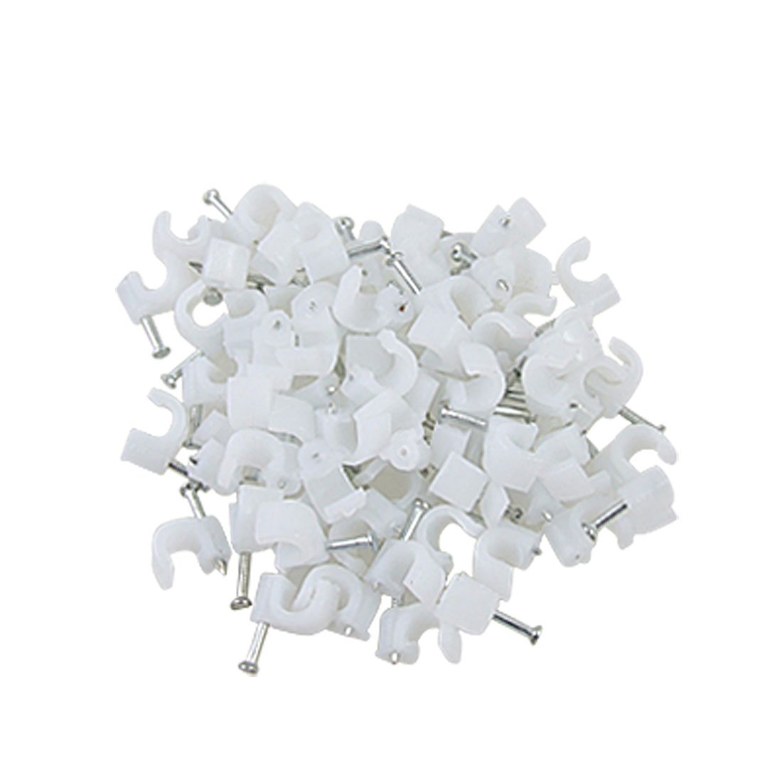 70 Pcs Plastic Circle Nail Clip for 5mm Dia Round Cable