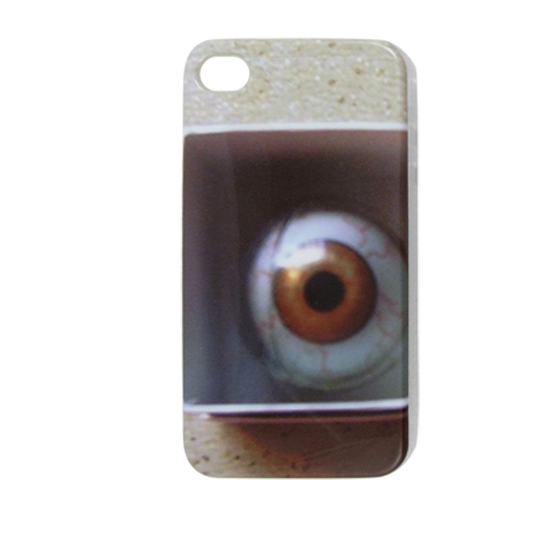 Eyeball Print IMD Hard Plastic Back Cover for iPhone 4 4G