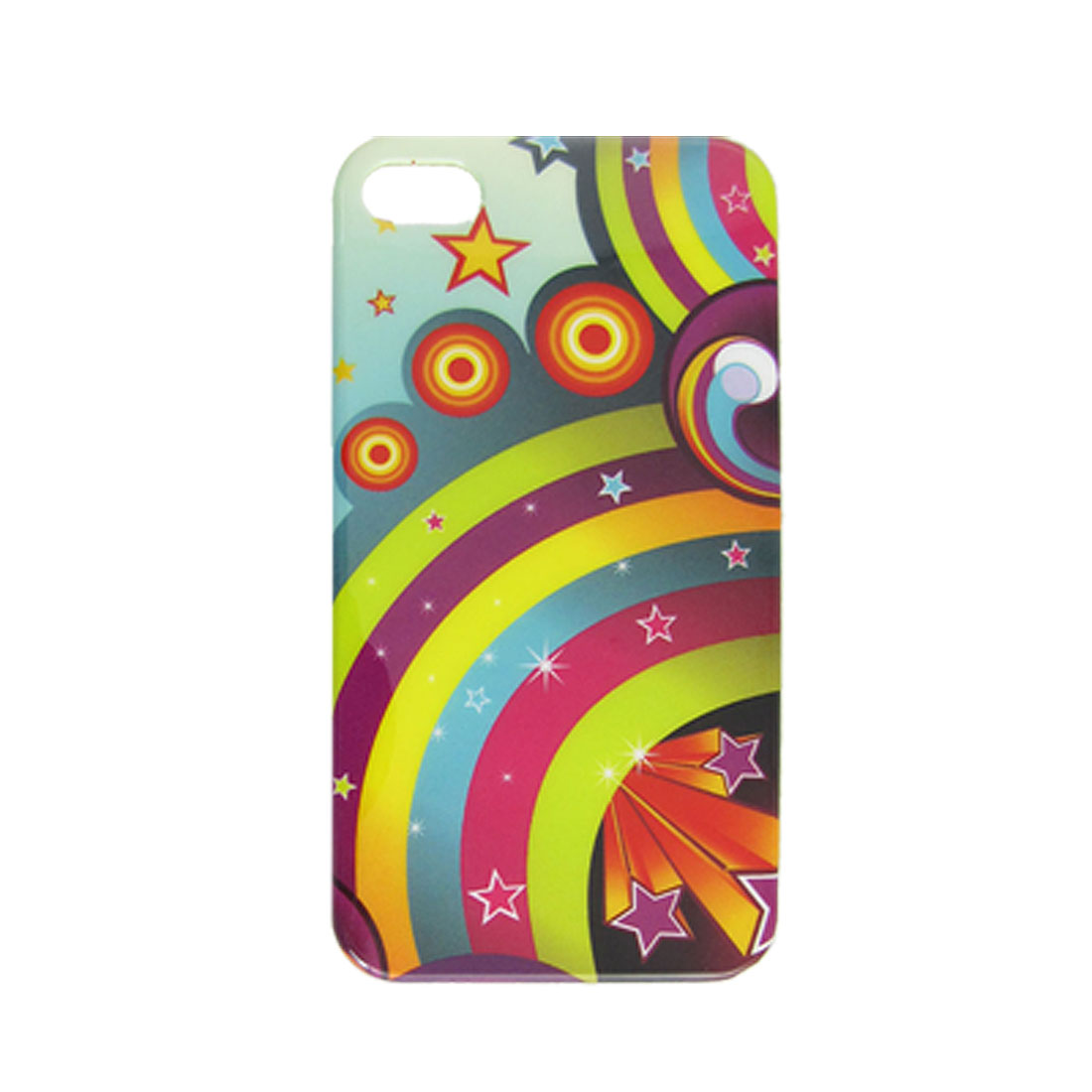 Rainbow Star Pattern Hard Plastic IMD Back Case for iPhone 4 4G