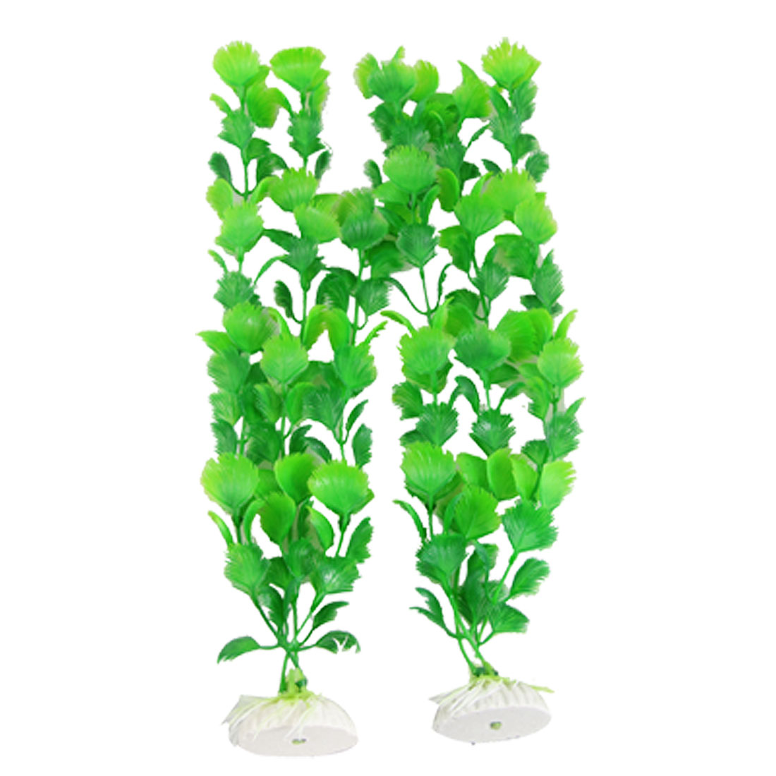 2pcs x 34CM Height Aquascaping Green Plants for Fish Tank