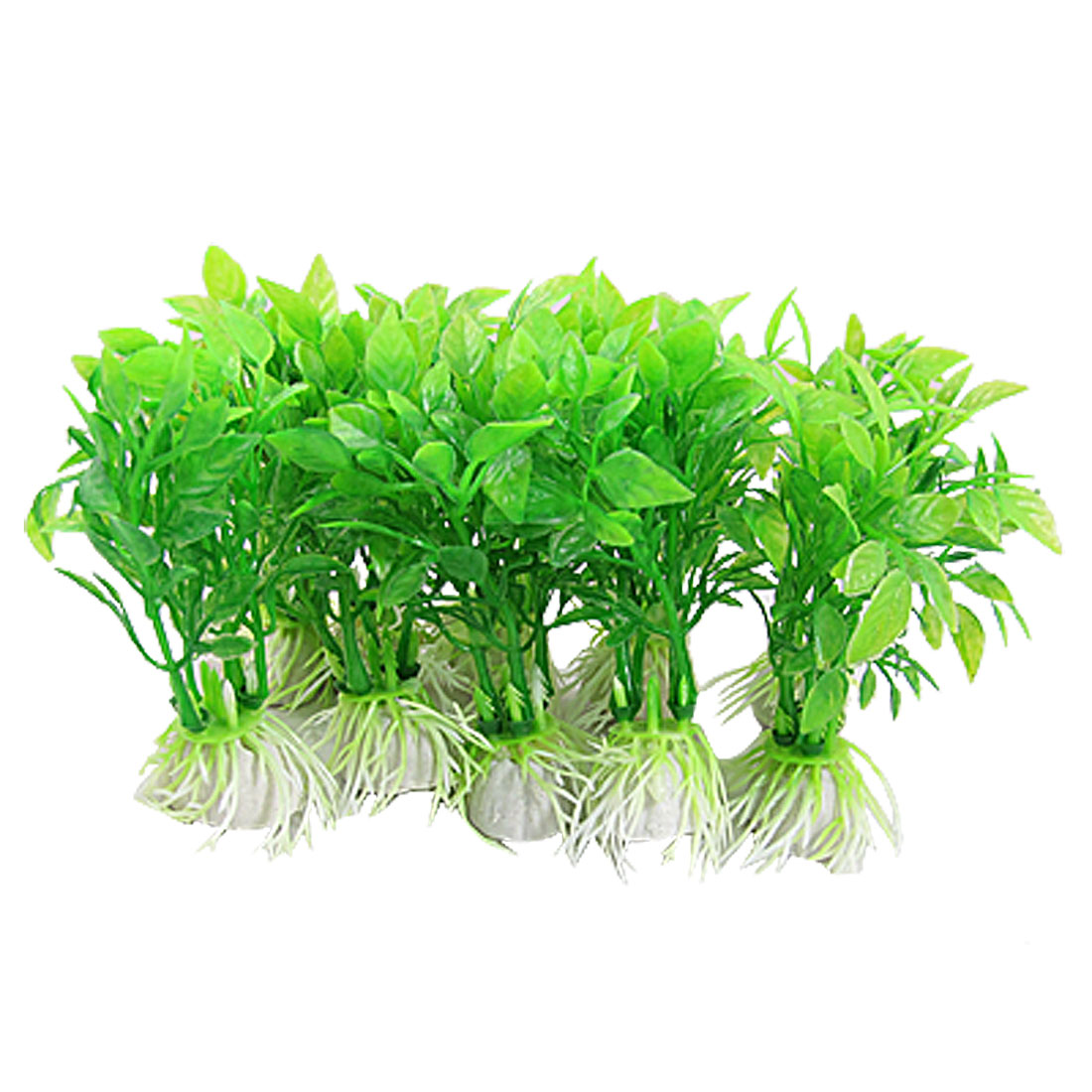 10PCS Green Plastic Underwater Grass Ornament for Fish Tank
