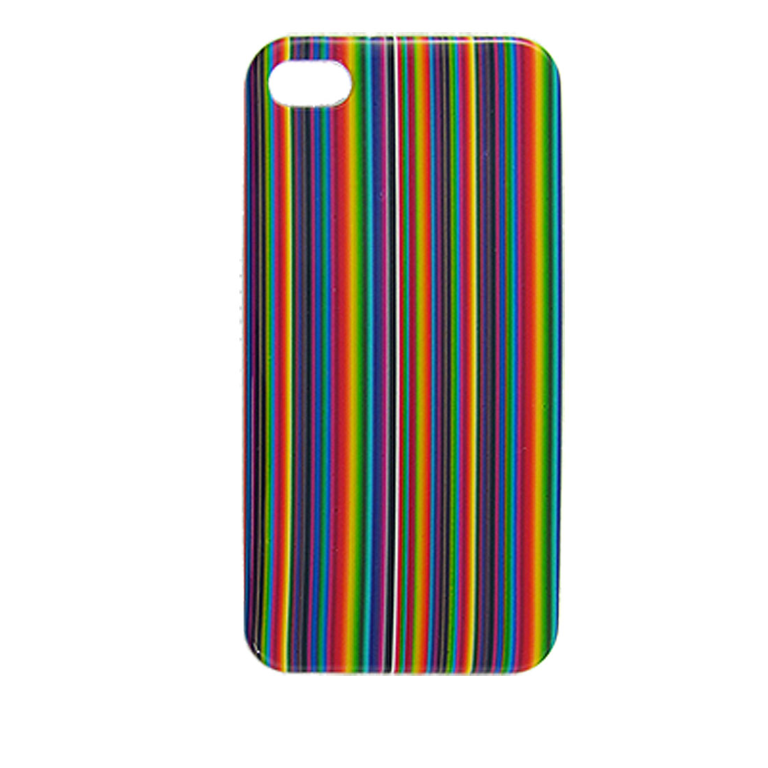 Color Bars Pattern Hard Plastic IMD Back Case Cover for iPhone 4 4G