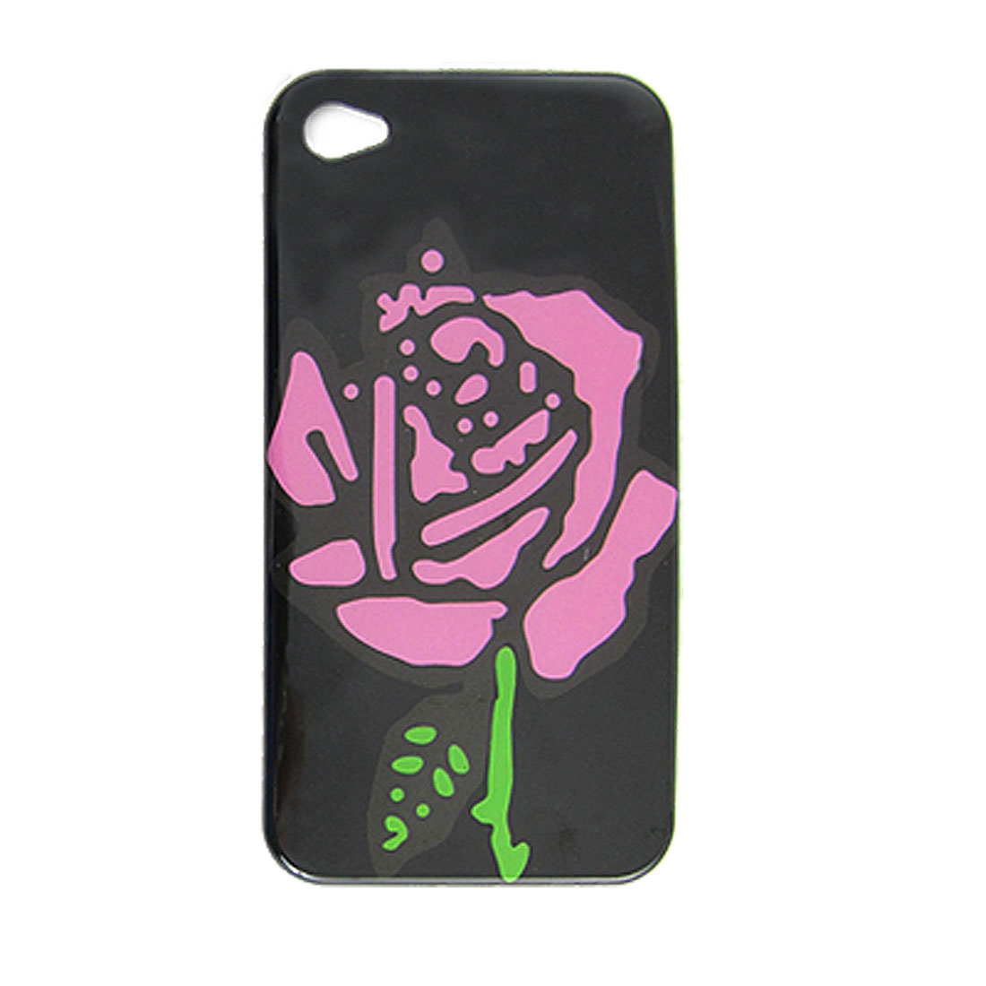 Floral Pattern Hard Plastic IMD Back Case for iPhone 4 4G