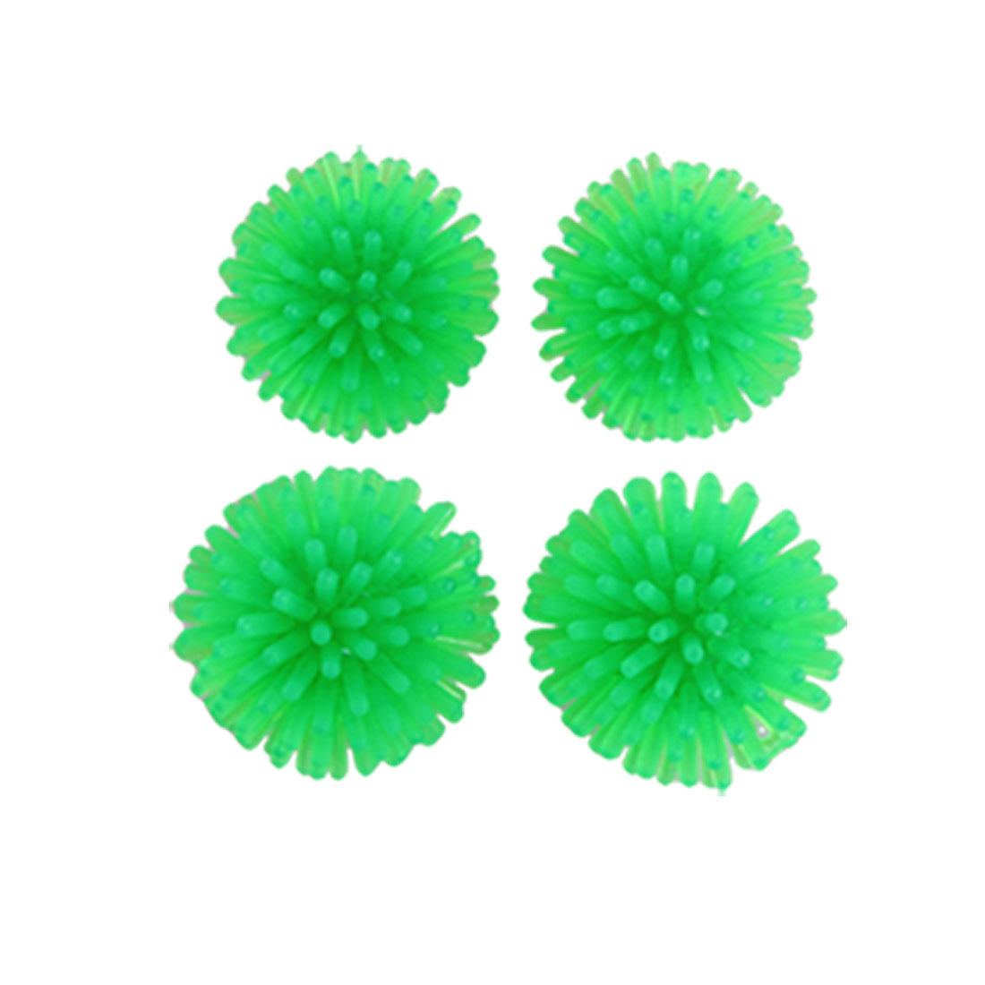 4 Pcs Mini Green Soft Plastic Fish Tank Echinus Decoration