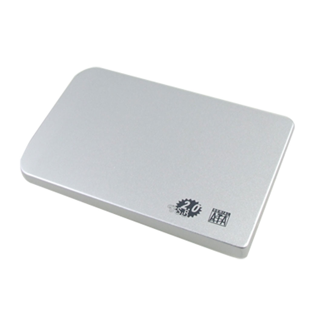 "Silver Tone Aluminum USB HDD Enclosure Case for 2.5"" SATA Hard Drive Disk"