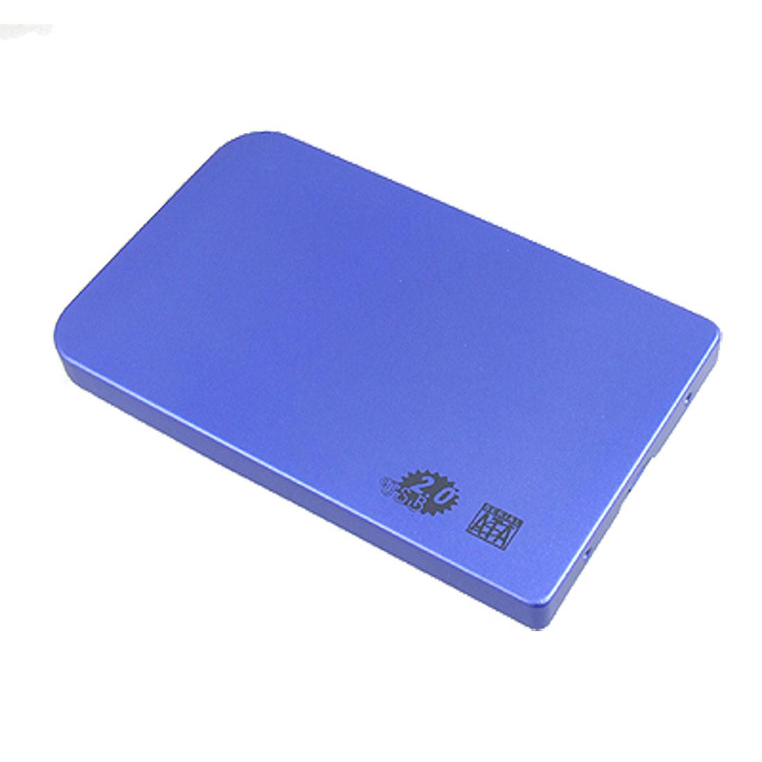 """New 2.5"""" IDE Aluminum HDD Hard Drive Enclosure USB 2.0 External Case Box"""