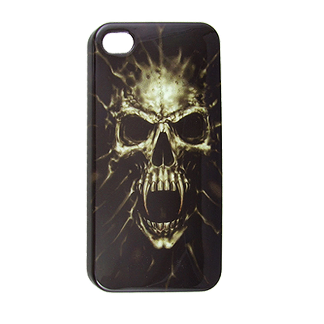 IMD Hard Plastic Skull Print Back Cover for iPhone 4 4G