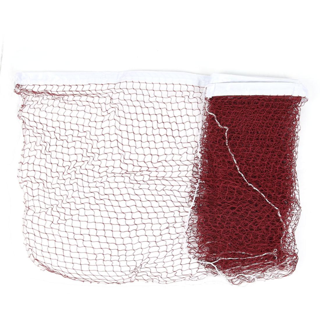 White Trim Dark Red 6m Length Shuttlecock Badminton Net
