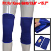 2Pcs Blue Black Stripe Plush Lined Elastic Knee Support