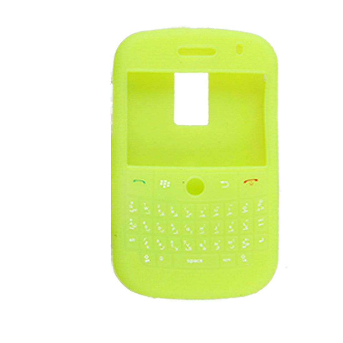 Lime Weave Pattern Silicone Case for Blackberry 9000