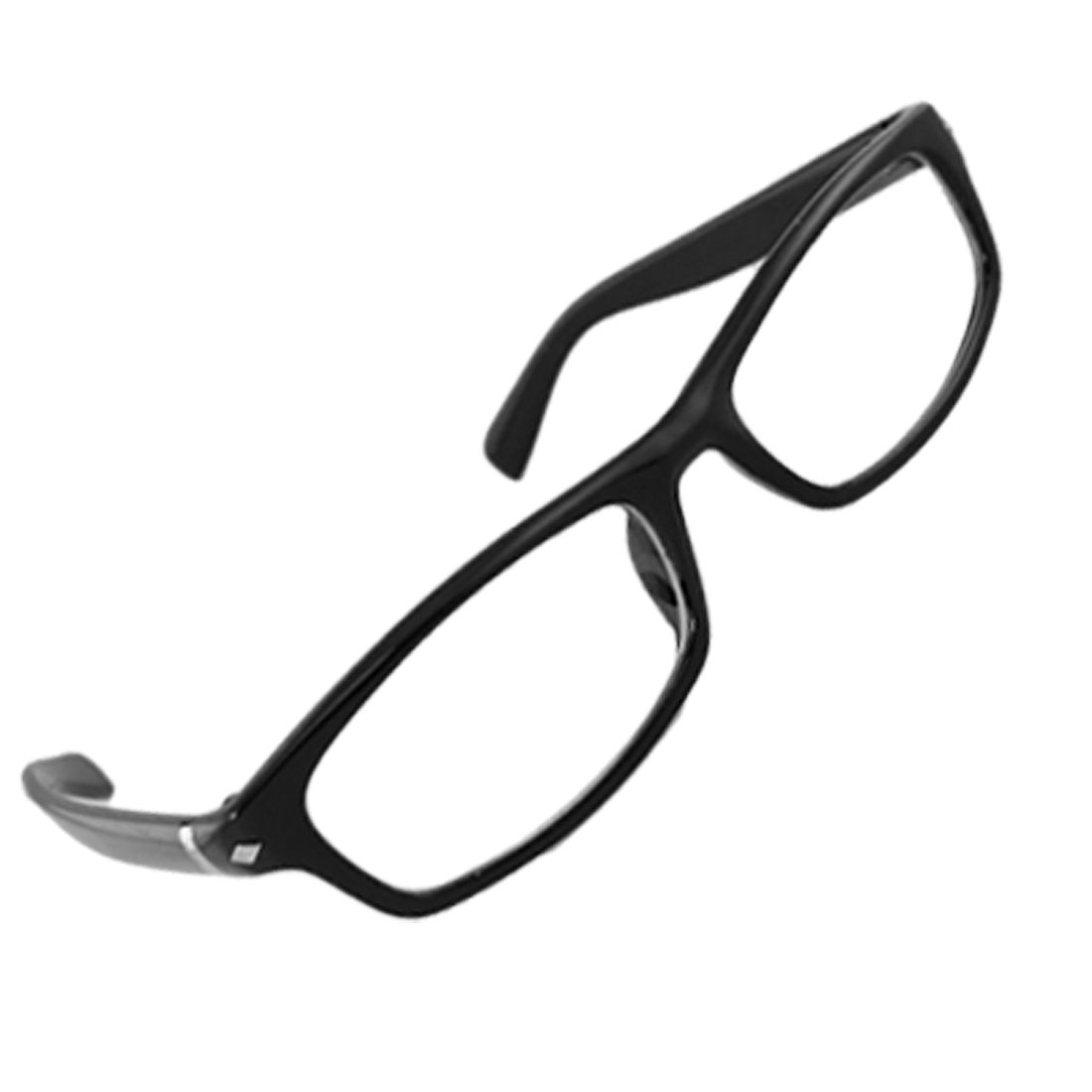 Plastic Arms Black Full Rim Multi Coated Lens Plain Glasses for Men