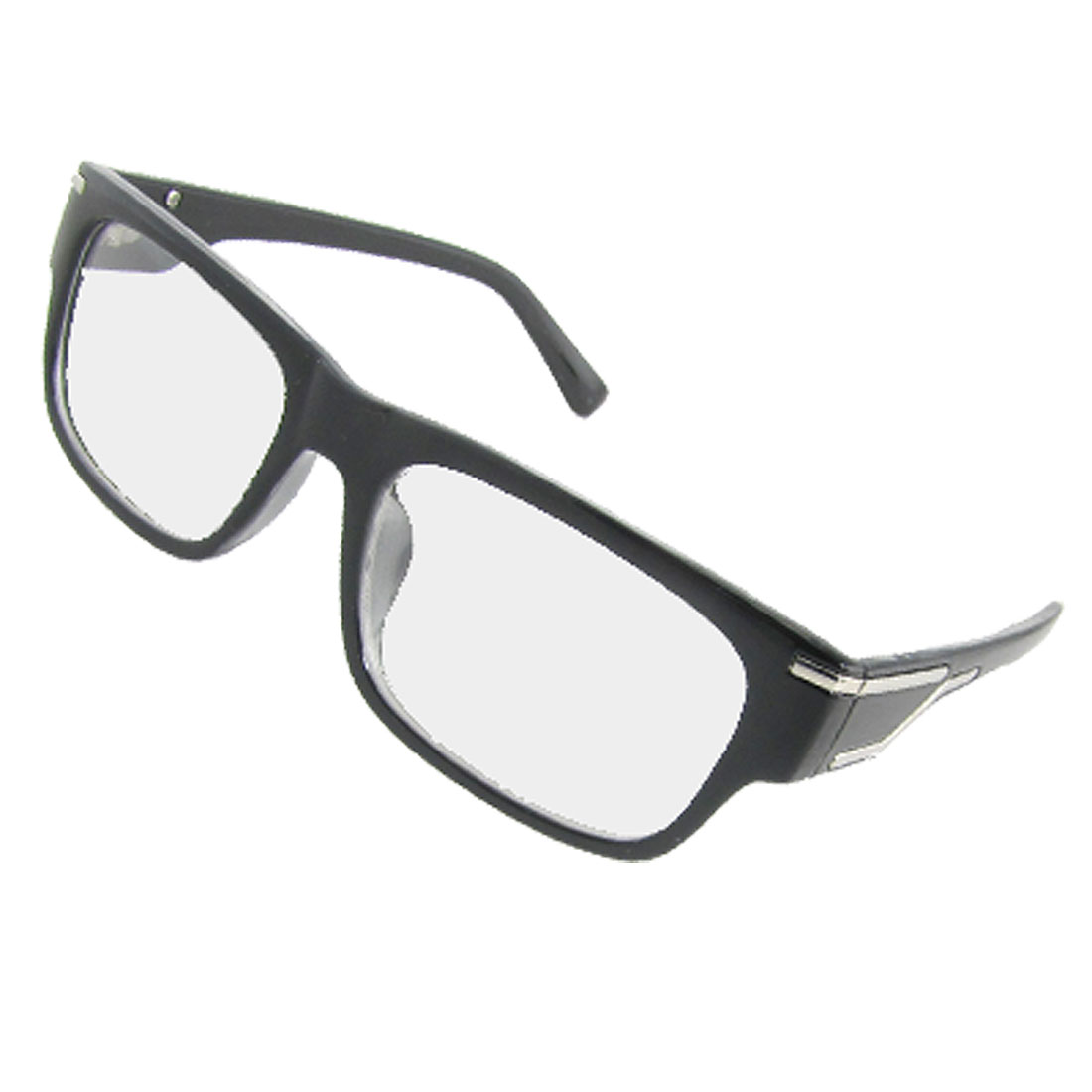 Black Rectangle Multi-coated Lens Eyeglasses Plain Glasses Eyewear