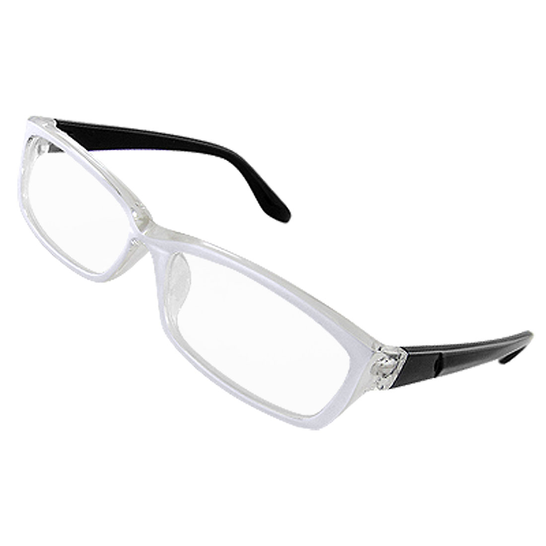 Plastic White Clear Full Frame Multi-coated Lens Plain Glasses