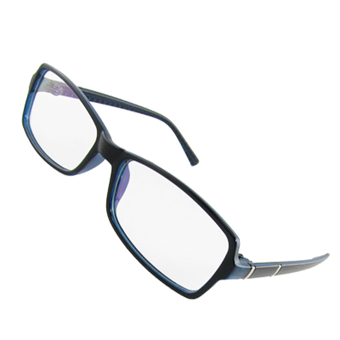 Dark Blue Plastic Frame Multi-coated Lens Plano Eyeglasses Eyewear