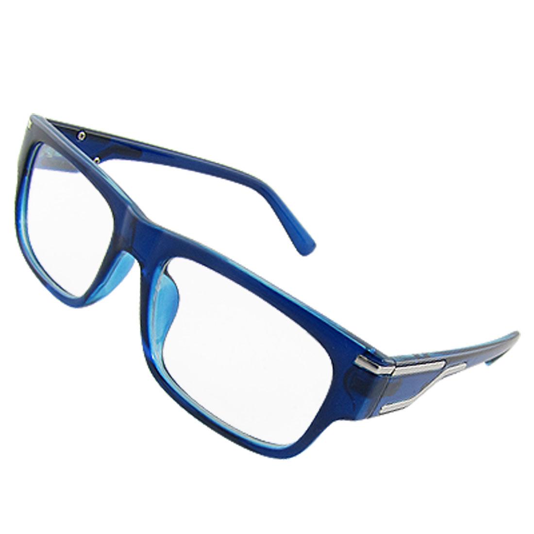 Blue Plastic Full Rim Multi-coated Lens Plano Glasses