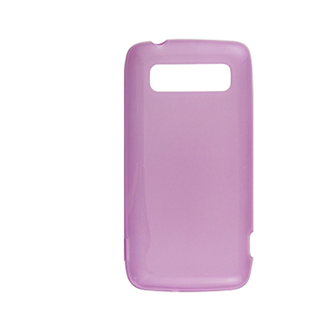 Clear Purple Soft Plastic Case Cover for HTC 7 Trophy Spark