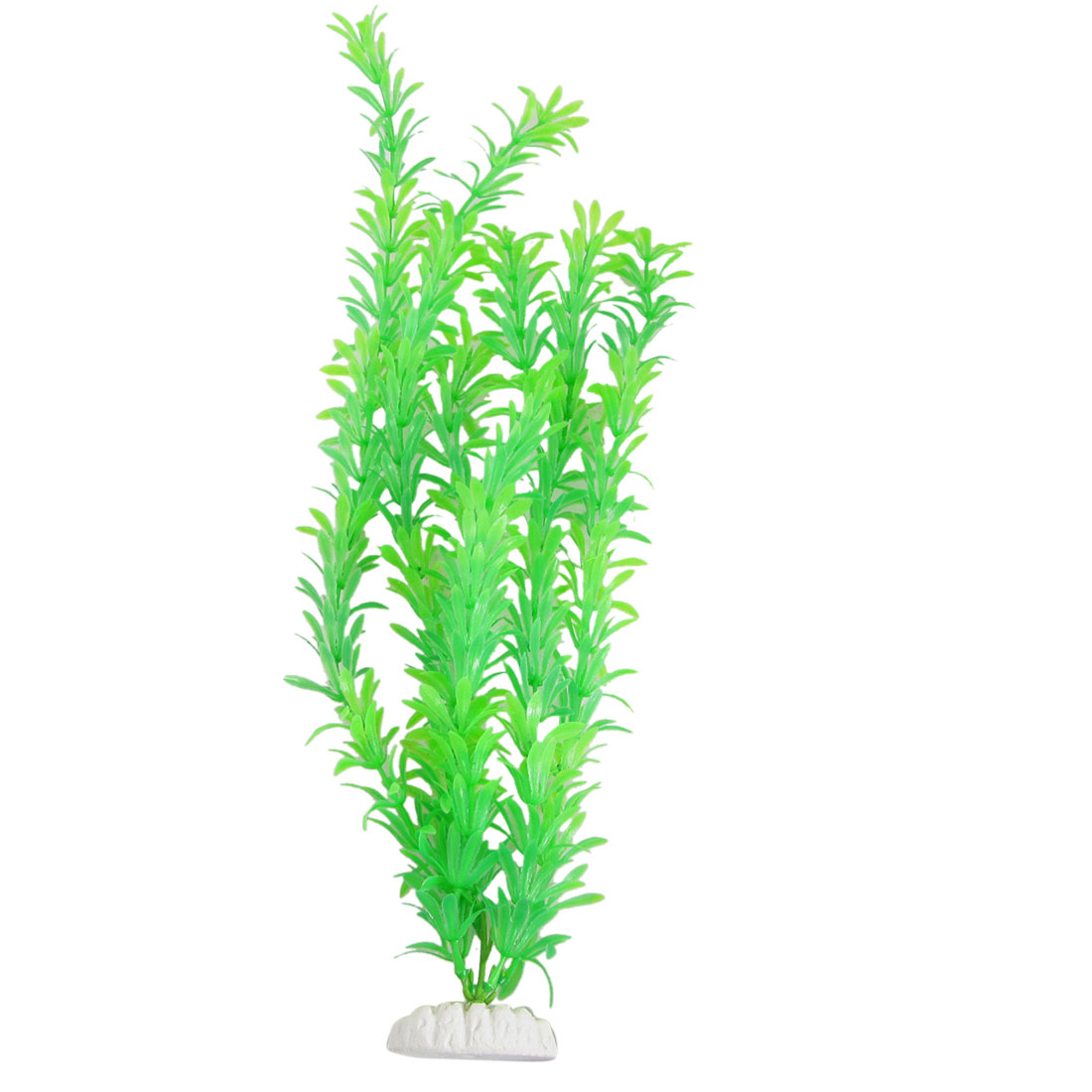 "Green Plastic 18.9"" Plant Grass Decoration for Aquarium"