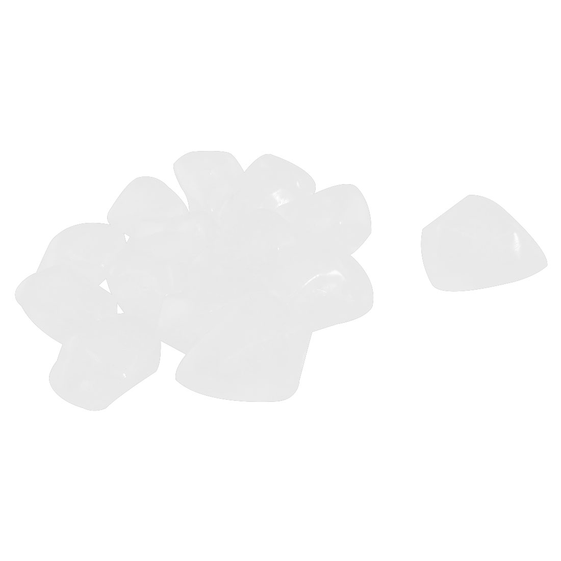 White Plastic Floating 14Pcs Stones Decoration for Fish Tank