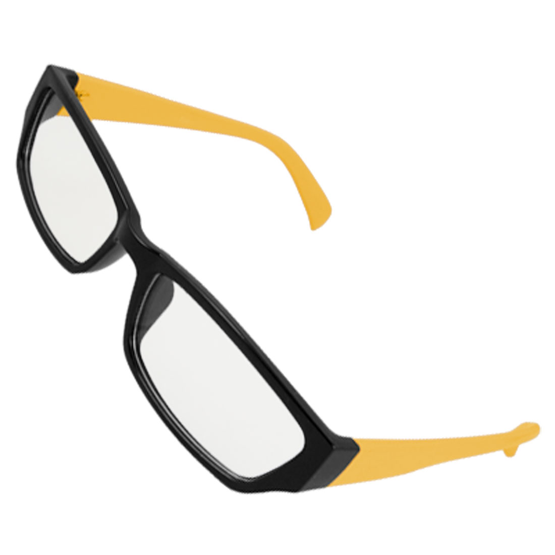 Lady Rectangular Multi Coated Lens Black Rim Plain Glasses