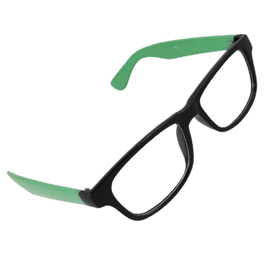 Lady Green Arms Black Plastic Full Rim Multi Coated Lens Glasses