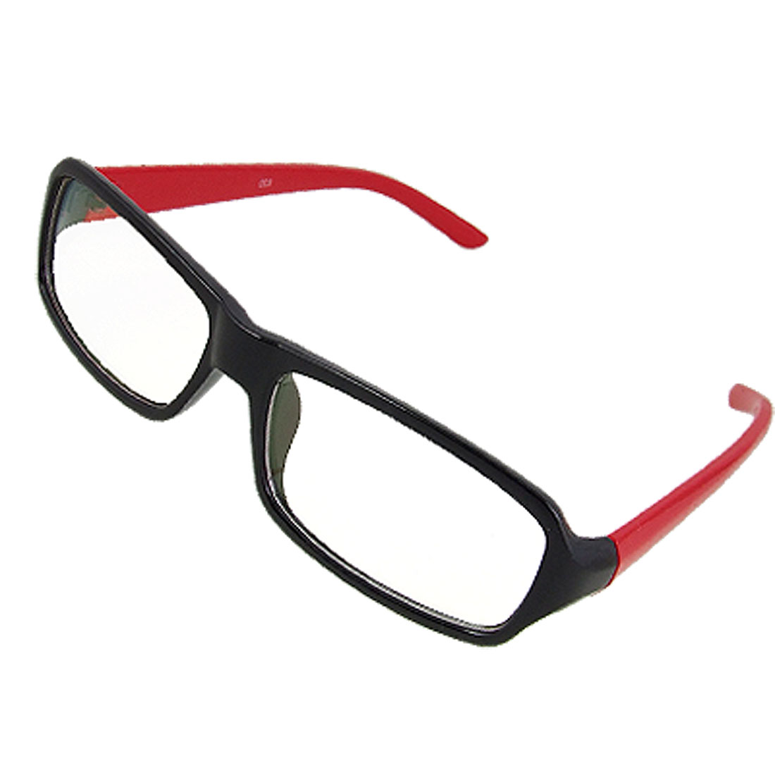 Lady Red Arm Black Full Frame Multi Coated Lens Plano Eyeglasses