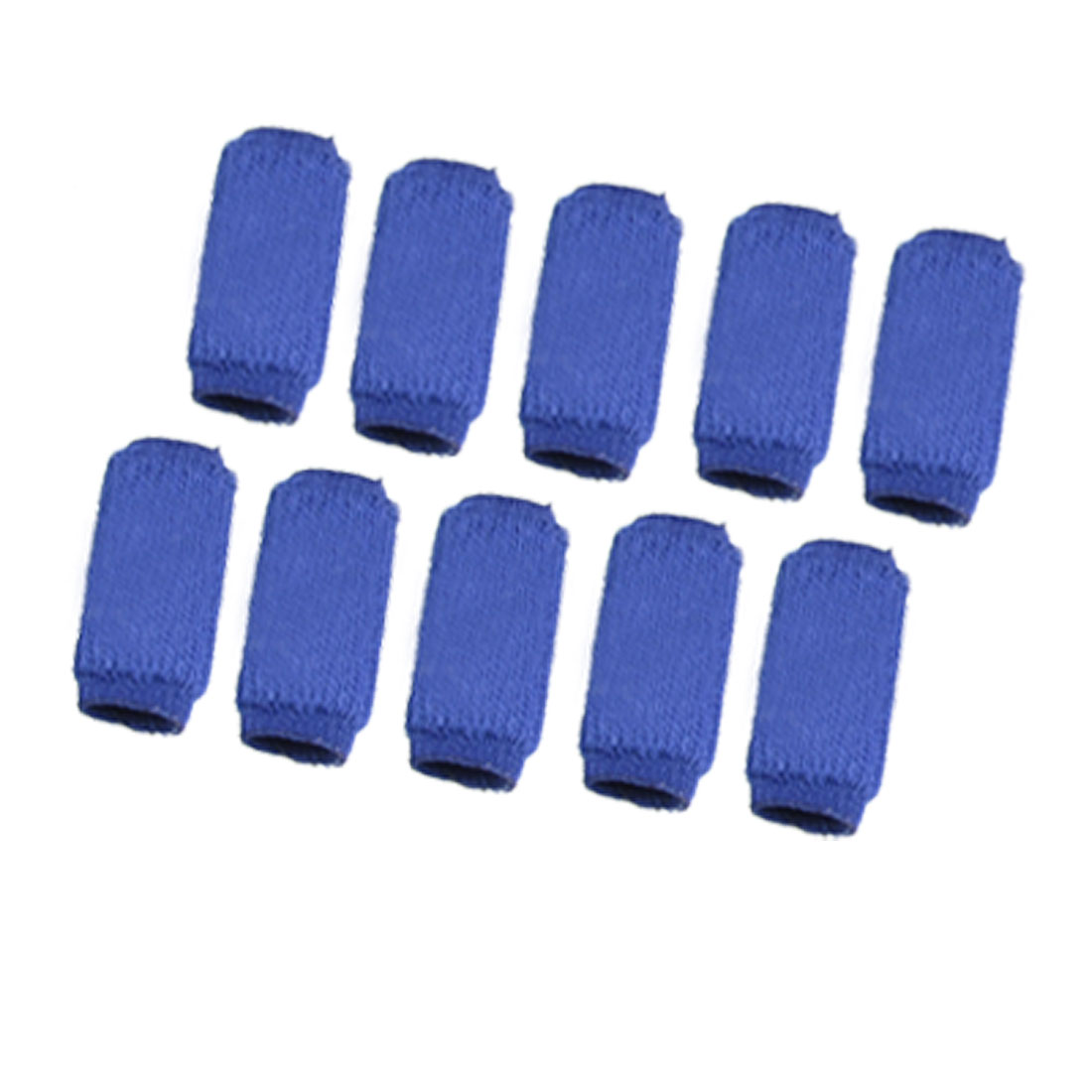 10 Pcs Volleyball Blue Elastic Finger Sleeve Protector