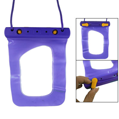 Transparent Water Resistant Lavender Bag Long Strap for Mp5 Phone