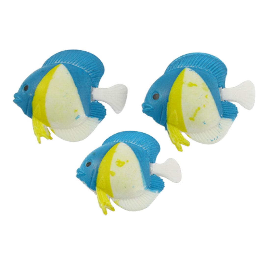 Multicolor Plastic Tropical Fish Oranment for Aquarium