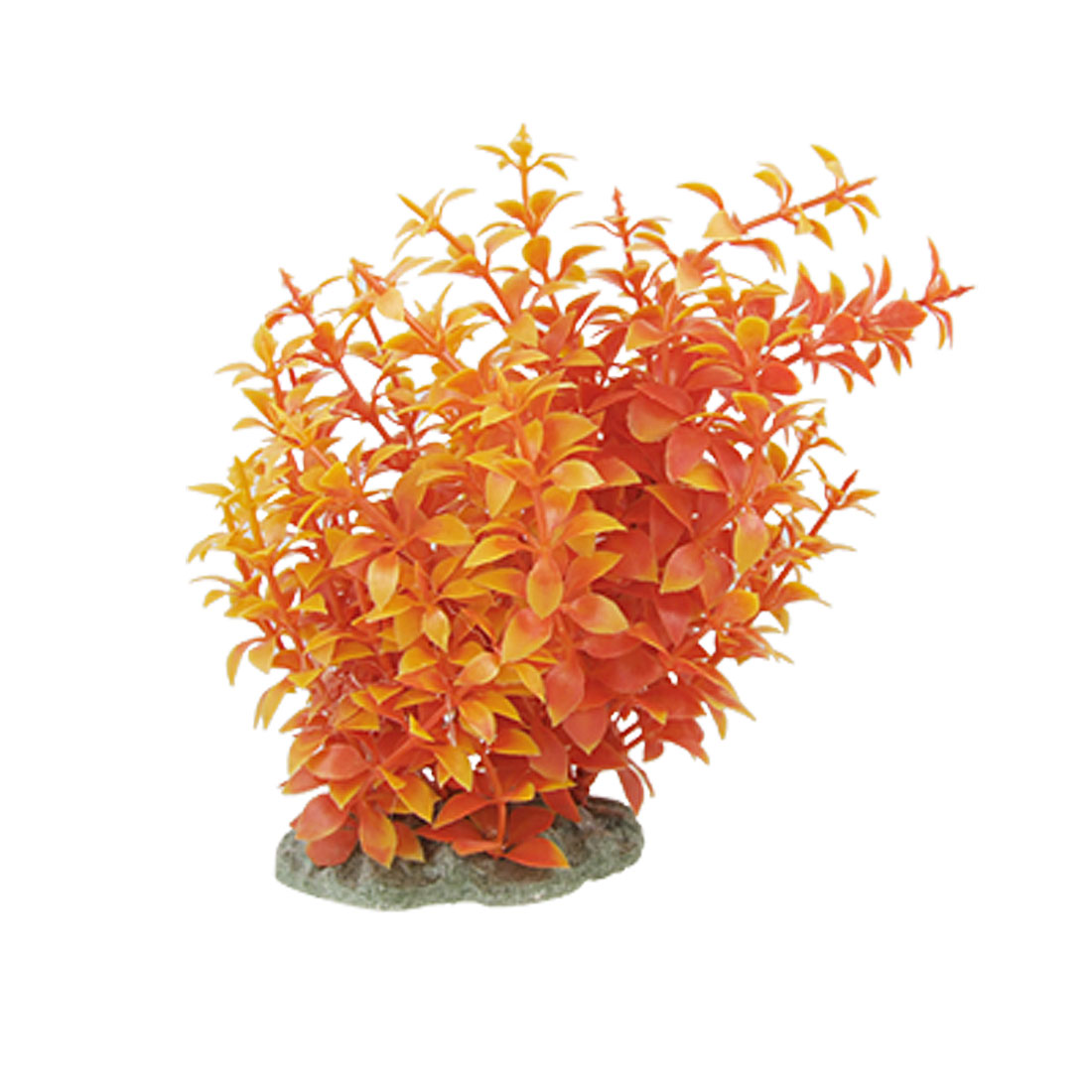 Orange Yellow Leaves Plastic Shrub Fish Tank Decoration