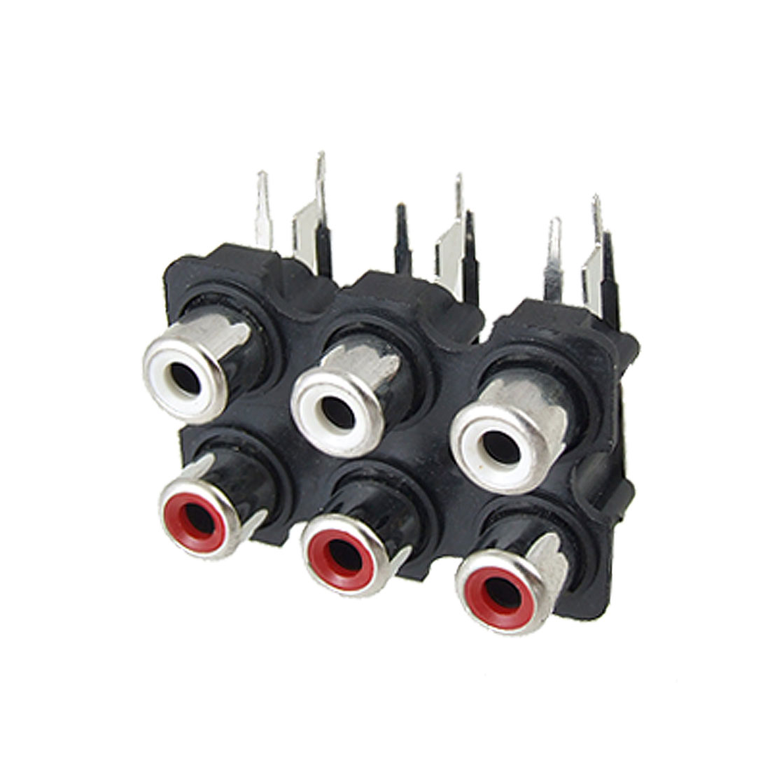 6 RCA Female Outlet AV Concentric Socket Connector