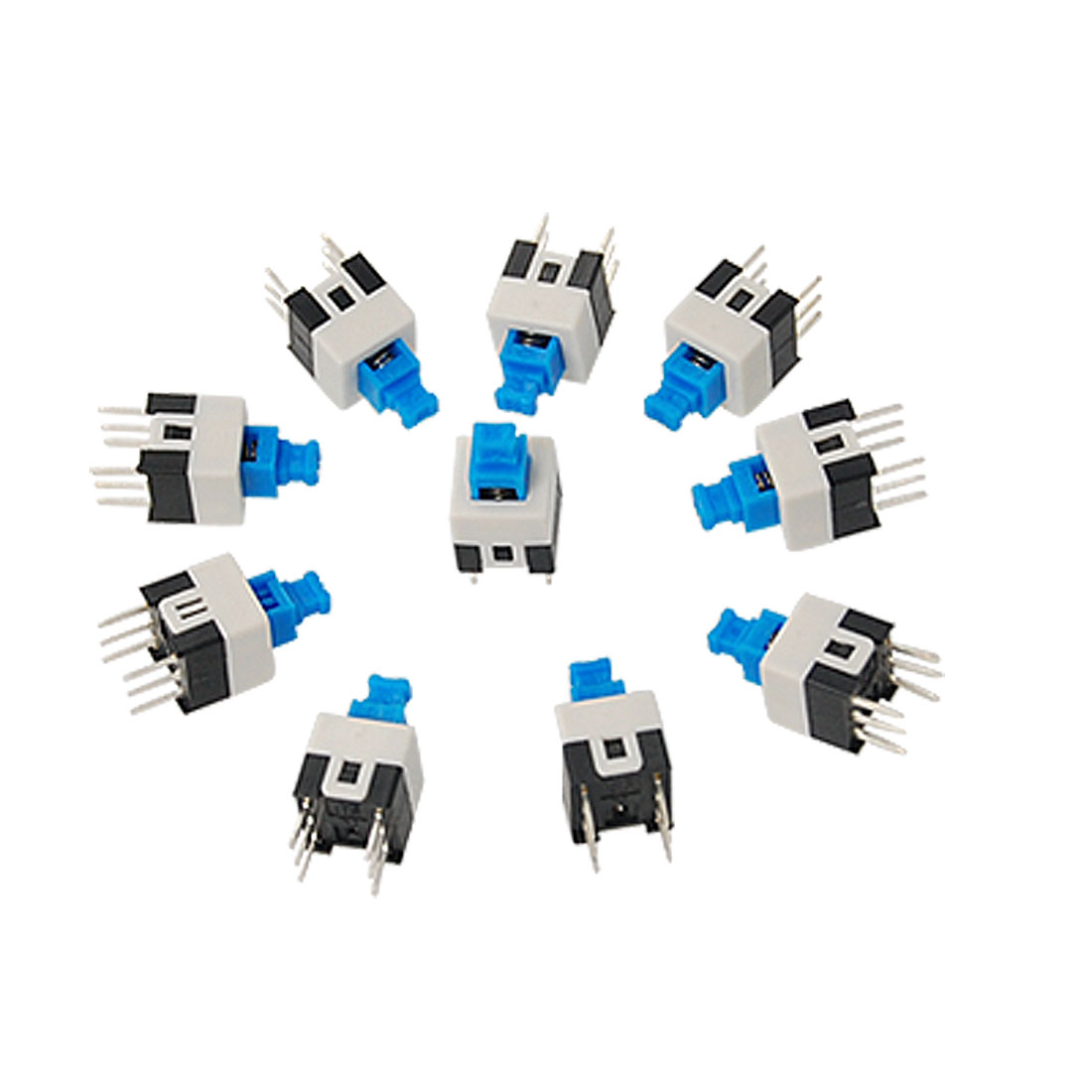10 Pcs 7 x 7mm PCB Momentary Tact Tactile Push Button Switch Non Lock 6 Pin DIP
