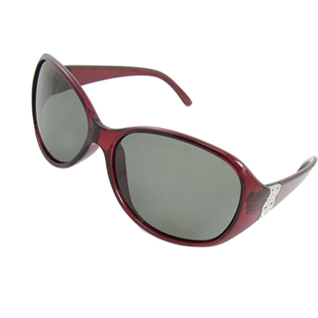 Oversized Lens Sangria Plastic Full Frame Polarized Sunglasses