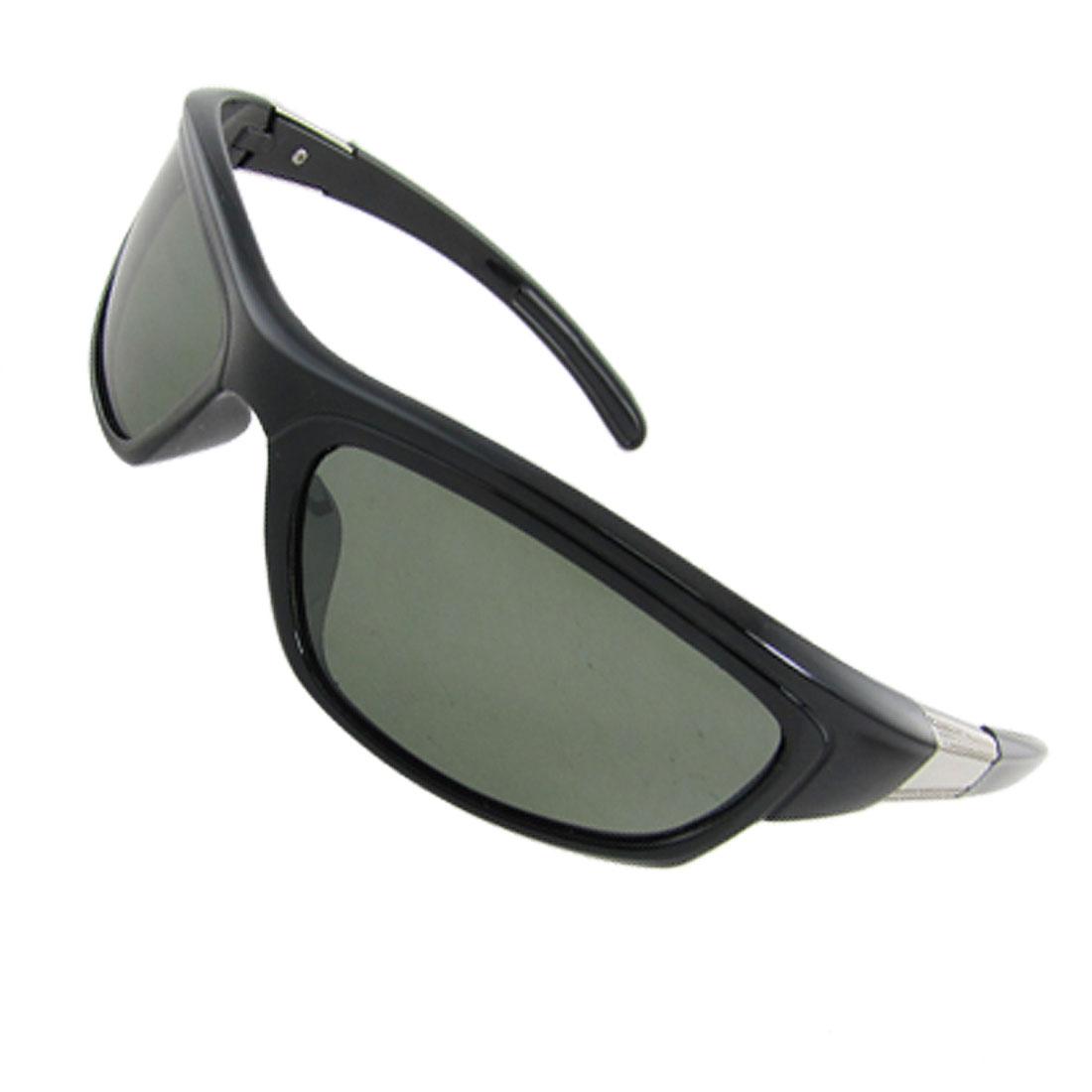 Black Plastic Full Frame Arc Lens Polarized Sunglasses for Ladies