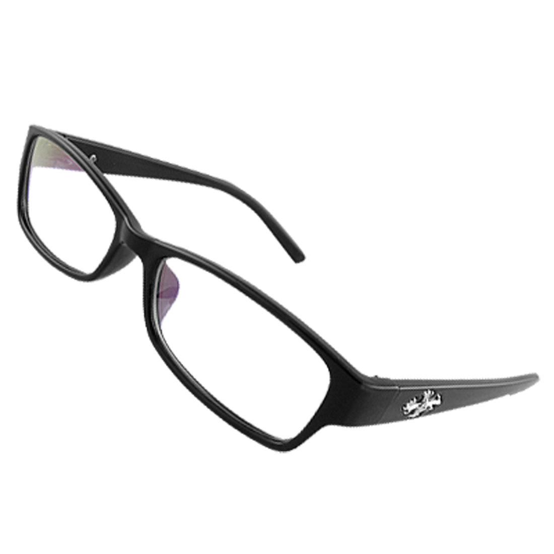 Ladies Plastic Black Full Rim Frame Multi Coated Lens Plano Glasses