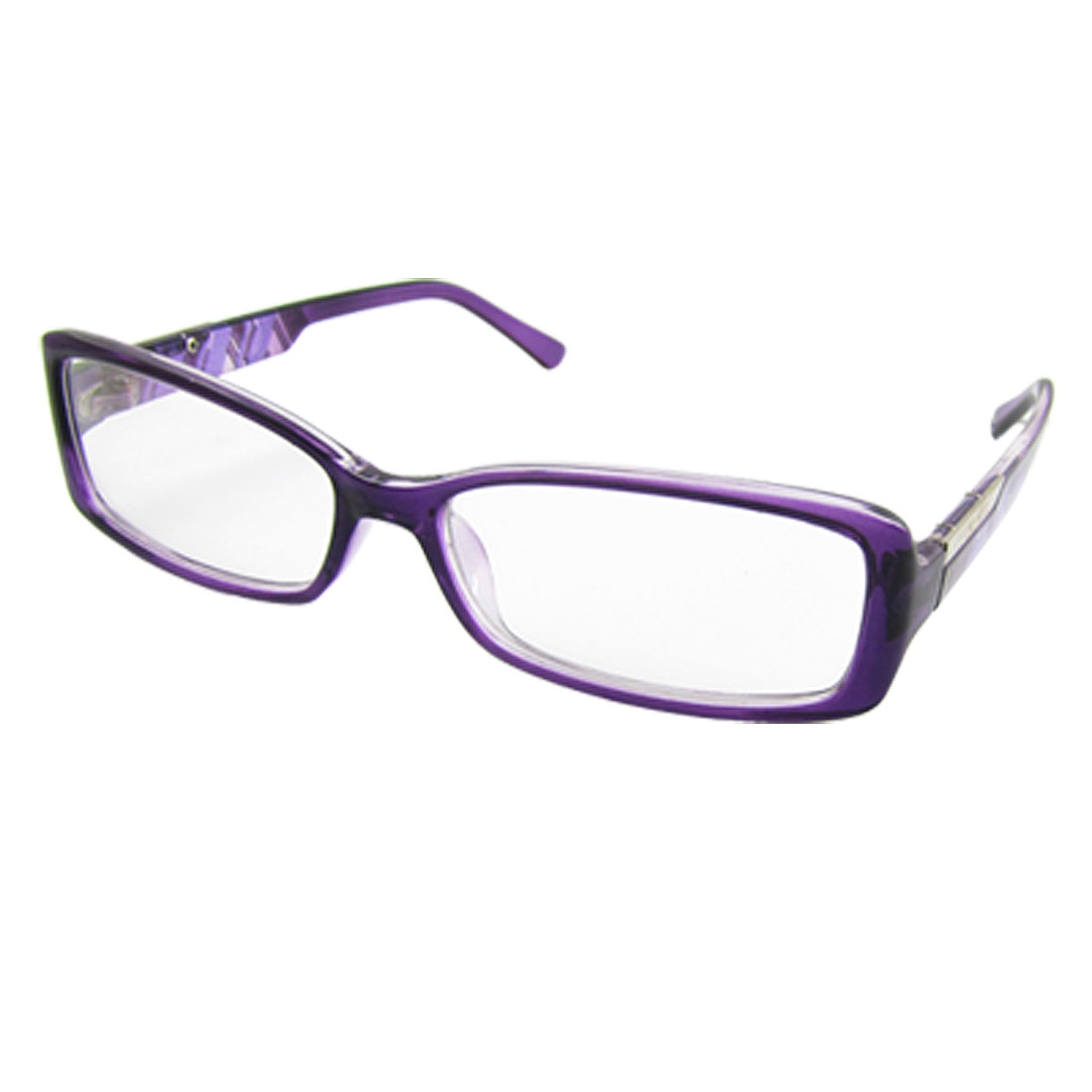 Ladies Purple Frame Multi Coated Lens Plastic Plain Glasses