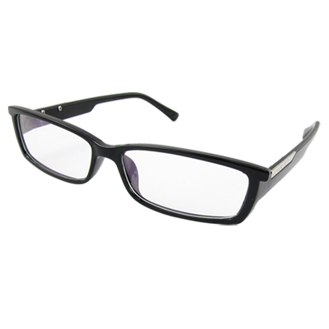 Unisex Black Plastic Full Rim Multi Coated Lens Plain Glass
