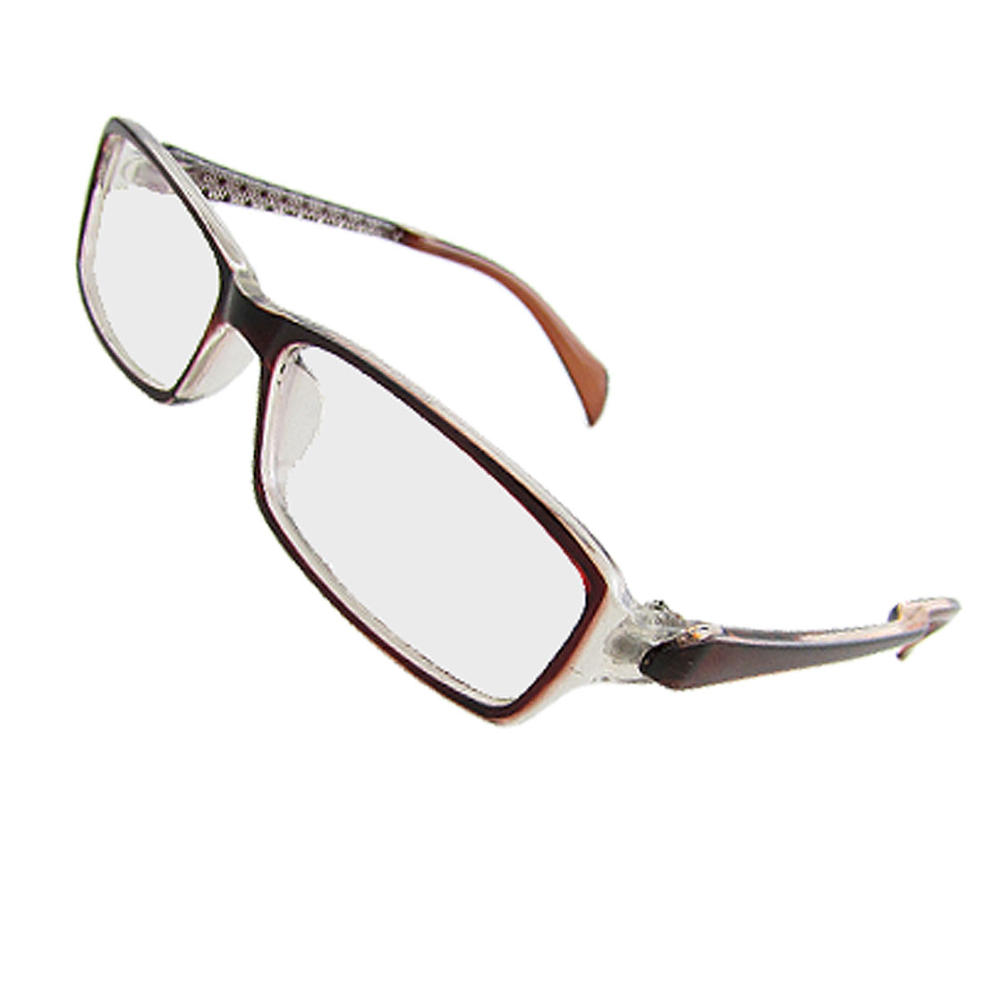 Ladies Single Bridge Burgundy Frame Multi Coated Lens Plain Glasses