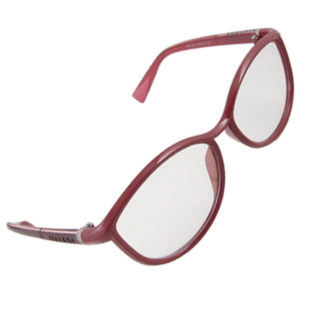 Burgundy Frame Cat Eye Style Multi Coated Plain Glasses